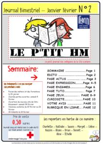 Le P'tit HM, numéro de janvier-février 2017